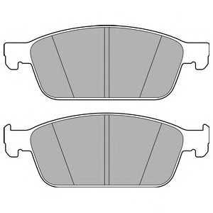 DELPHI LP2495 Гальмівні колодки, дискові