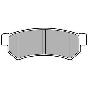 DELPHI LP2502 Гальмівні колодки, дискові
