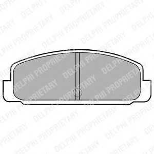 DELPHI LP401 Гальмівні колодки, дискові