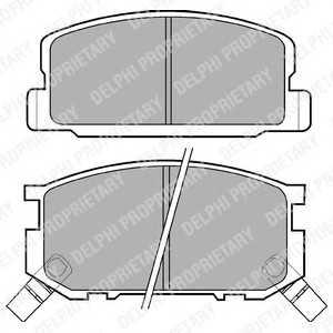DELPHI LP402 Комплект тормозных колодок, дисковый тормоз Дайхатсу