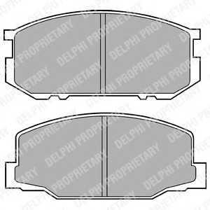 DELPHI LP456 Комплект тормозных колодок, дисковый тормоз