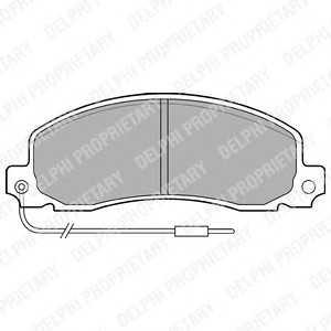 DELPHI LP504 Комплект тормозных колодок, дисковый тормоз Рено Трафик