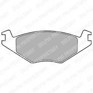 DELPHI LP505 Тормозные колодки