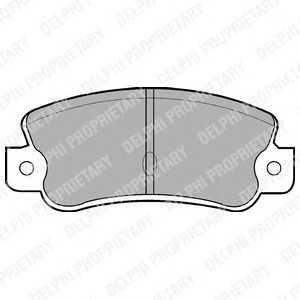 DELPHI LP523 Комплект тормозных колодок, дисковый тормоз Лансия