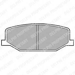 DELPHI LP527 Гальмівні колодки, дискові