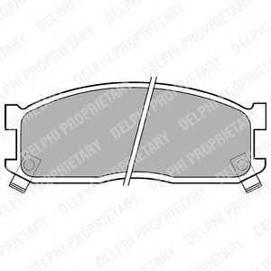 DELPHI LP530 Комплект тормозных колодок, дисковый тормоз Киа Беста