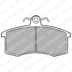 DELPHI LP551 Гальмівні колодки, дискові