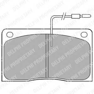 DELPHI LP568 Комплект тормозных колодок, дисковый тормоз