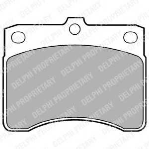 DELPHI LP578 Комплект тормозных колодок, дисковый тормоз Дайхатсу