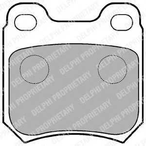 DELPHI LP590 Гальмівні колодки, дискові