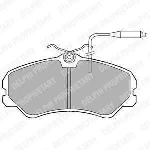 DELPHI LP594 Комплект тормозных колодок, дисковый тормоз