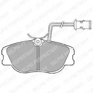 DELPHI LP598 Комплект тормозных колодок, дисковый тормоз Лансия