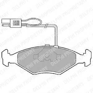 DELPHI LP604 Комплект тормозных колодок, дисковый тормоз Фиат