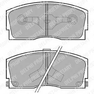 DELPHI LP626 Гальмiвнi колодки дисковi