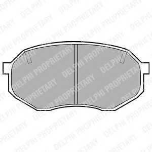 DELPHI LP630 Комплект тормозных колодок, дисковый тормоз Мазда 929