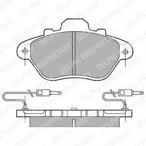 DELPHI LP654 Комплект тормозных колодок, дисковый тормоз Ситроен Хм