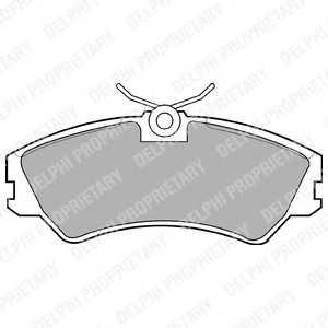 DELPHI LP668 Гальмівні колодки, дискові