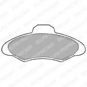 DELPHI LP673 Гальмівні колодки, дискові