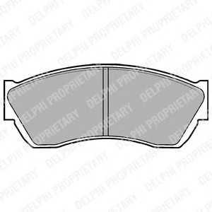 DELPHI LP676 Гальмівні колодки, дискові