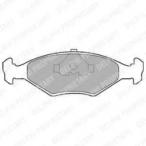 DELPHI LP677 Комплект тормозных колодок, дисковый тормоз Фиат