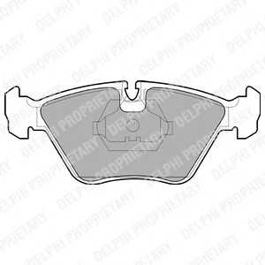 DELPHI LP705 Комплект тормозных колодок, дисковый тормоз Ягуар