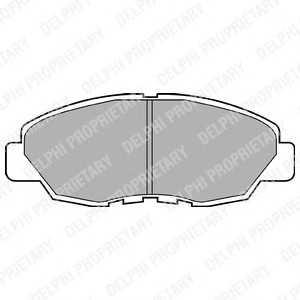 DELPHI LP734 Комплект тормозных колодок, дисковый тормоз