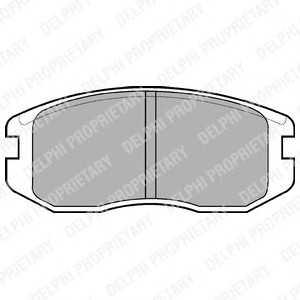 Комплект тормозных колодок, дисковый тормоз lp736 delphi - MITSUBISHI COLT III (C5_A) Наклонная задняя часть 1.3 (C51A)
