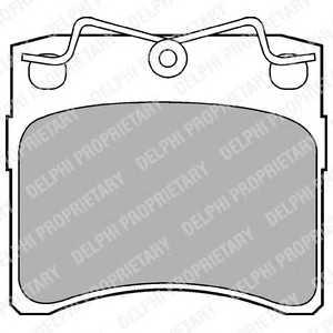 DELPHI LP785 Гальмівні колодки, дискові