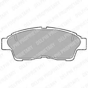 DELPHI LP789 Тормозные колодки