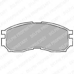 DELPHI LP803 Гальмівні колодки, дискові
