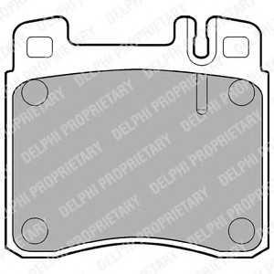 DELPHI LP840 Комплект тормозных колодок, дисковый тормоз