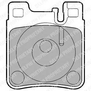 DELPHI LP841 Гальмівні колодки, дискові