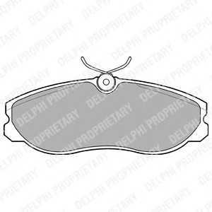 DELPHI LP847 Гальмівні колодки, дискові