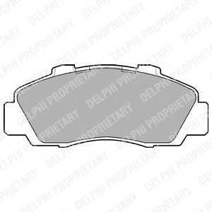 DELPHI LP872 Комплект тормозных колодок, дисковый тормоз Хонда