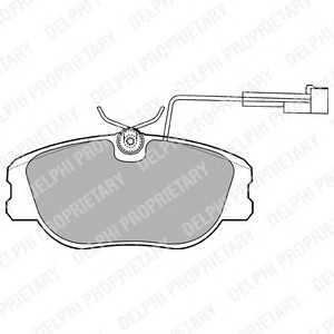 DELPHI LP875 Комплект тормозных колодок, дисковый тормоз