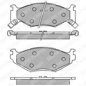 DELPHI LP891 Комплект тормозных колодок, дисковый тормоз Крайслер Le