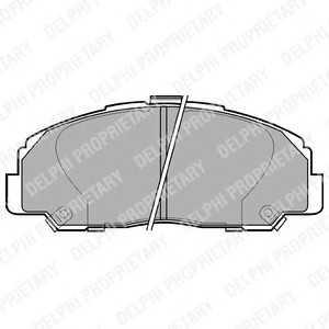 DELPHI LP944 Комплект тормозных колодок, дисковый тормоз Дайхатсу
