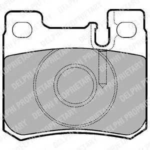 DELPHI LP947 Гальмівні колодки, дискові