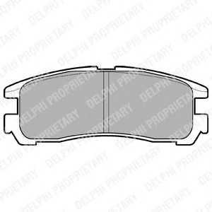 DELPHI LP955 Комплект тормозных колодок, дисковый тормоз Митсубиси 3000 Джи-Ти