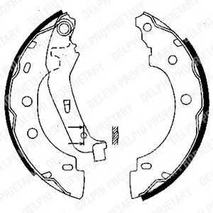 DELPHI LS1842 Комплект тормозных колодок