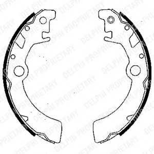 DELPHI LS1846 Комплект тормозных колодок