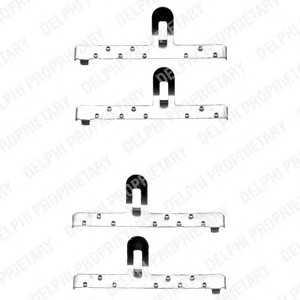 DELPHI LX0071 Монтажний компл.,гальм.колодки