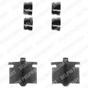DELPHI LX0082 Комплектующие, колодки дискового тормоза