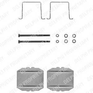 DELPHI LX0122 Комплектующие, колодки дискового тормоза Ситроен Cx