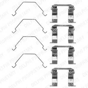 DELPHI LX0159 Комплектующие, колодки дискового тормоза