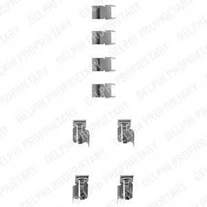 DELPHI LX0183 Комплектующие, колодки дискового тормоза Дайхатсу