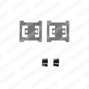 DELPHI LX0218 Комплектующие, колодки дискового тормоза