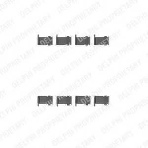 DELPHI LX0226 Комплектующие, колодки дискового тормоза Дайхатсу Териос