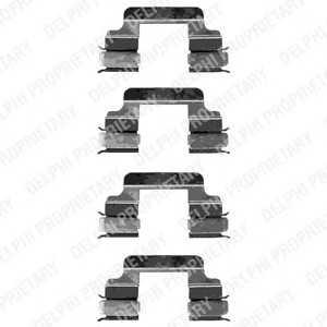 Комплектующие, колодки дискового тормоза lx0334 delphi - FIAT PUNTO (188) Наклонная задняя часть 1.8 130 HGT (188.738, .718)