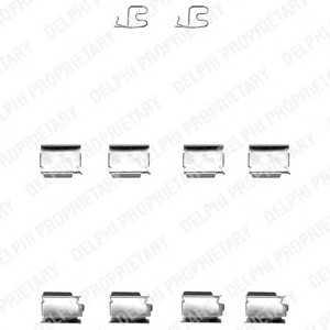 DELPHI LX0343 Комплектующие, колодки дискового тормоза